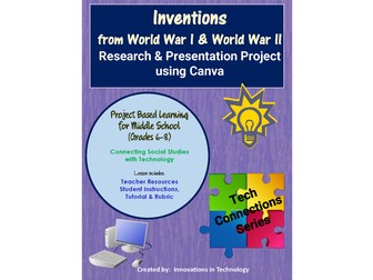 Inventions of World War I & World War II - Research and Presentation in Canva