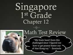 Singapore 1st Grade Chapter 12 Math Test Review (5 pages)
