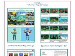 Friendship Spanish Comic Book and Worksheet
