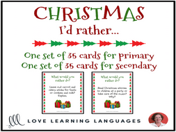 Christmas - I'd rather game for primary and secondary