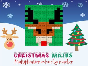 Christmas maths: multiplication colour by number