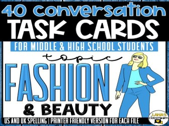 Conversation Starter Cards | Fashion | Social Skills for Middle&High