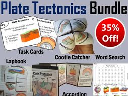Plate Tectonics Task Cards, Interactive Notebooks and Activities Bundle