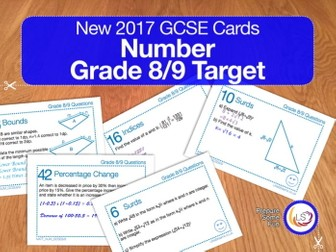 Number - New 9-1 GCSE Maths Grade 8/9 target