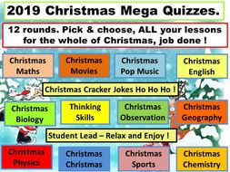 Christmas mega pack of activities, and Christmas fun quizzes . Xmas. Updated 2019. Best seller.