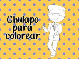 Chulapo para colorear - chulapo for coloring - San Isidro