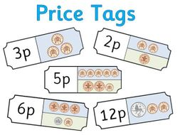 Price Tags for Role Play Shop - Coins and Money - Editable