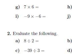 Multiplying and dividing positive and negative numbers worksheet ...