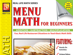 Consumer Addition, Subtraction, & Multiplication: Menu Math for Beginners