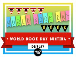 World Book Day Bunting - Display - School Stuff