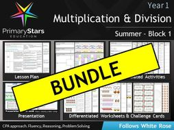 YEAR 1 - Multiplication & Division - White Rose - COMPLETE Block 1 - Summer BUNDLE