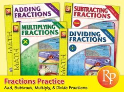 Fractions Practice for Addition, Subtraction, Multiplication, Division {Bundle}