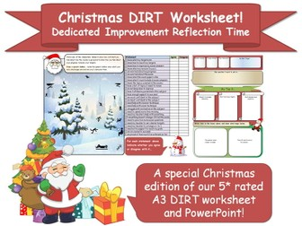 A3 DIRT Worksheet (Christmas Edition!)