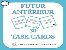 GCSE FRENCH: Futur Antérieur Task Cards + Powerpoint
