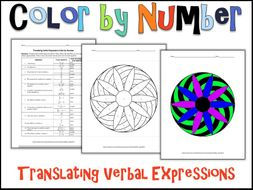 Translating Verbal Expressions Color by Number