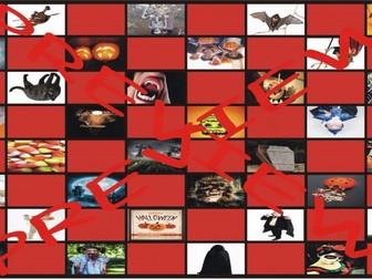 Halloween Checkerboard Board Game