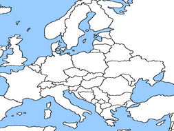 Blank European Map by nichola_gammogo | Teaching Resources