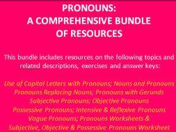 PRONOUNS: A Comprehensive Bundle of Resources