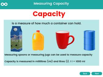 Measuring Capacity - Year 1, Key stage 1