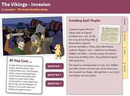 The Great Heathen Army - Interactive Teaching Book - The Vikings KS2