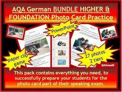 AQA German GCSE Speaking Photo Card BUNDLE