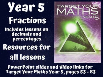 Target Your Maths Year 5 - Fractions (resources for all lessons)
