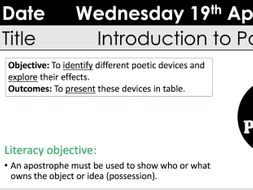 gcse eduqas wjec introduction to poetry lesson ks3 ks4 by christyjade1 teaching resources. Black Bedroom Furniture Sets. Home Design Ideas