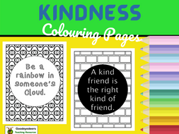 Kindness Colouring Pages, Kindness Posters
