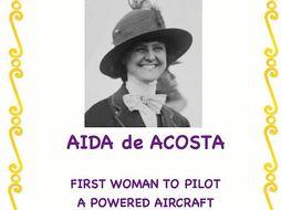 Women Trailblazers: Aida de Acosta(First Woman to Pilot a Powered Aircraft)