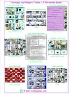 Technology and Gadgets 7 Game Plus 2 Worksheet Bundle