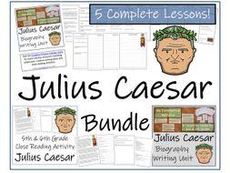 UKS2 History - Julius Caesar Reading Comprehension & Biography Bundle