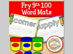 Sight Word Mats: Fry 9th 100 Word Mats - Color