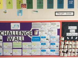 Interactive Challenge Wall Display