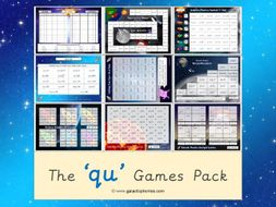The 'qu' Phonics Games Pack (Letters & Sounds Phase 3)