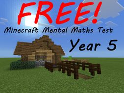 Year 5 Week 1 Minecraft Mental Maths Test