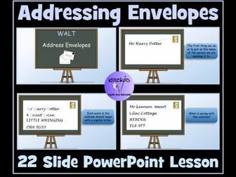 Addressing Envelopes PowerPoint Lesson
