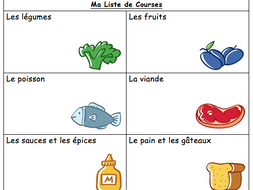 French Food Vocabulary Internet Shopping List By Misssanglier