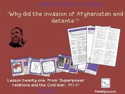 GCSE 9-1 Edexcel Cold War: L21 Why did the invasion of Afghanistan end detente?