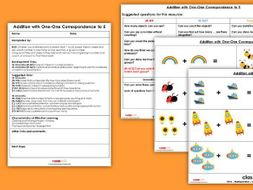 EYFS Addition with One-One Correspondence to 5 Planning, Resources & Observation Pack