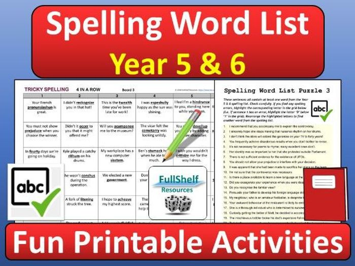 photograph about Printable Spelling Games named Spelling Video games Yr 5 / 6
