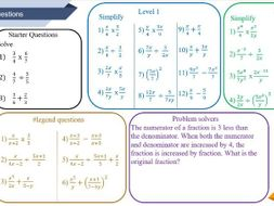 intro to algebraic fractions worksheet by osmith  teaching  intro to algebraic fractions worksheet