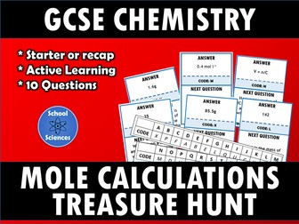 Mole Calculations - treasure hunt