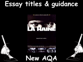 aqa level french essay Exam board: aqa level: as/a-level subject: french first teaching:  for the  assessment with advice on essay-writing and the new individual.