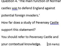 Pevensey Castle: AQA GCSE History Historic Environment model answer