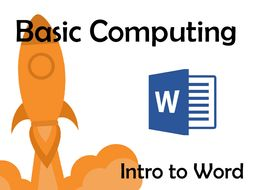 Basic Computing – Intro to Word