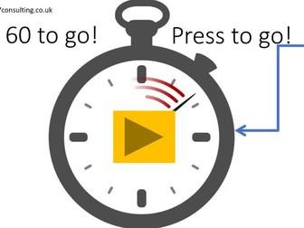 Countdown 60 seconds Automatic move forward -  different (Unique) PPT