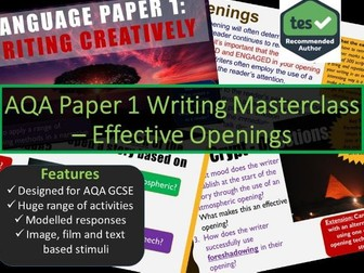 Creative Writing Masterclass - Narrative and Descriptive Openings