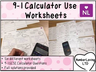 9-1 Efficient Calculator Use (Worksheets)