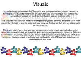 Autism and Special Needs Ideas and Walkthrough Pack