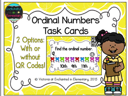 Ordinal Numbers Task Cards